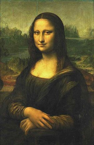 <b>Mona Lisa</b>Leonardo da Vinci, 1503–1507, Yağlıboya tablo, 77 × 53 cm, Louvre Müzesi