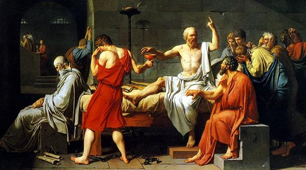 Sokrates'in ölümü (Jacques-Louis David 1787)