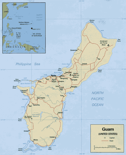 how to call guam from philippines