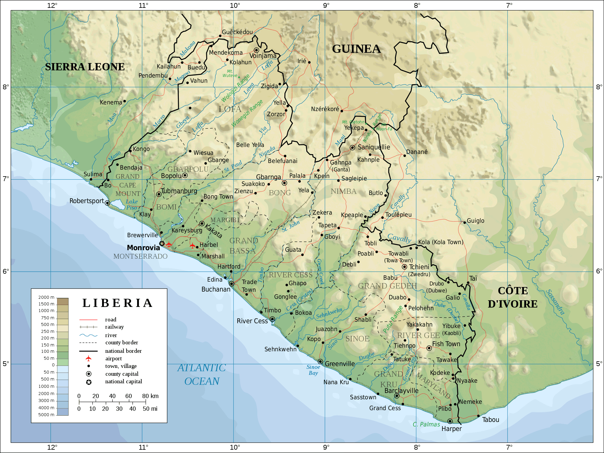 topographical map of arizona with Liberya on United States Of America Physical Maps besides Carte mexique also 37076a1 also Spectopo as well Texas Physical Maps.